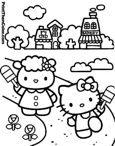 hello kitty coloring pages kids az coloring pages