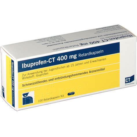Obat Ibuprofen 400 Mg ibuprofen ct 400 mg retardkapseln shop apotheke