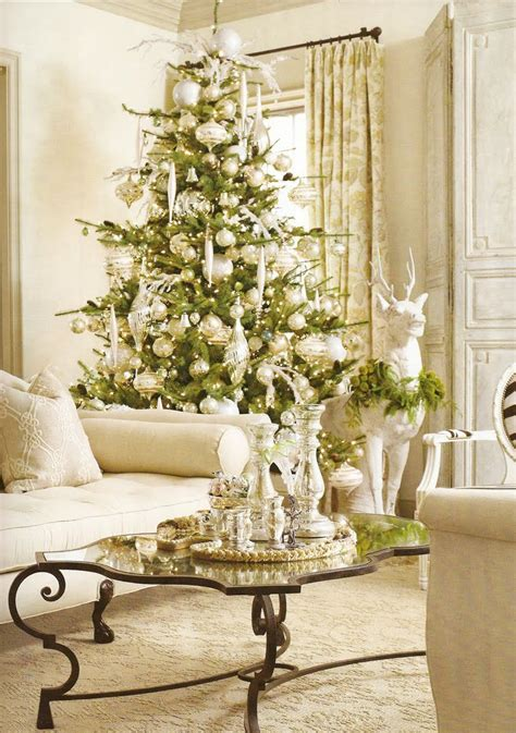 decorations elegant white christmas living room