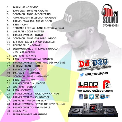 Christian D20 4 gospel mixtape dj d20 if no be god novice2star