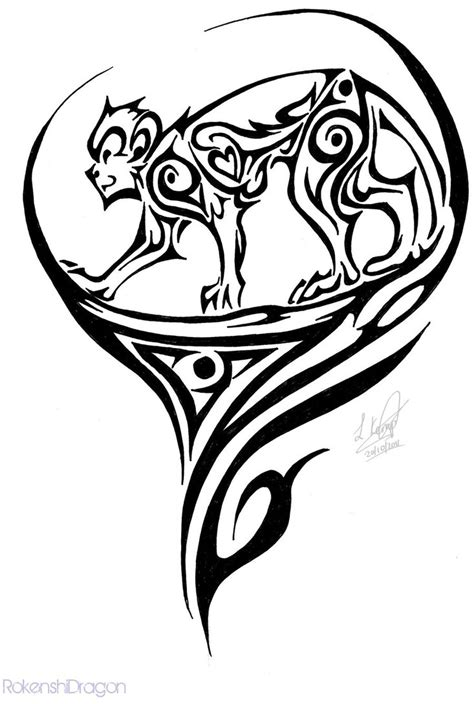 monkey tribal tattoo tribal monkey by rokenshidragon on deviantart