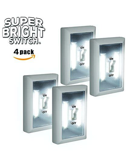 battery powered led light switch super bright switch 4 pack wireless peel and stick led