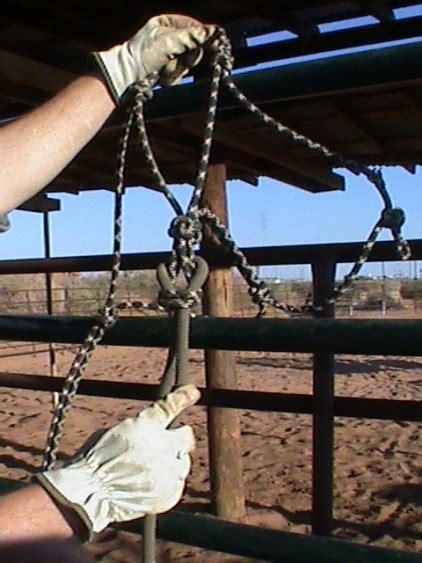 functional horsemanship halter lead rope tie knot