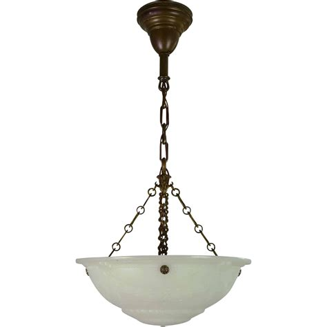 Bowl Light Fixture Vintage Cast Glass Bowl Light Fixture