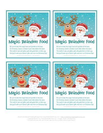 printable magic reindeer food gift tags pinterest the world s catalog of ideas