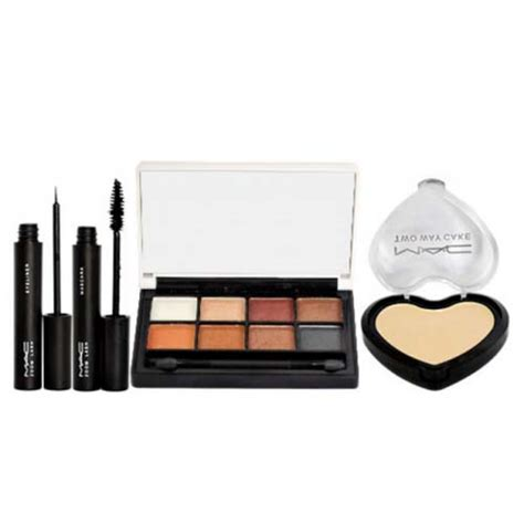 Mac Two Way Cake mac 4 in 1 makeup kit 8 color eyeshadow palette two way