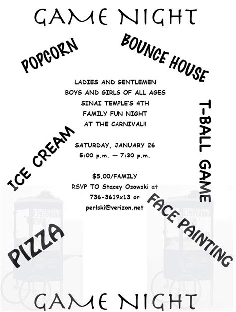 family game night flyer family game night 2008 images frompo