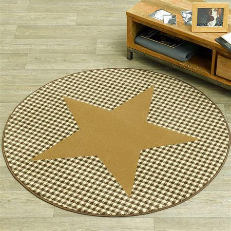 designer teppich rund design velours teppich karo rund choco beige 140 cm