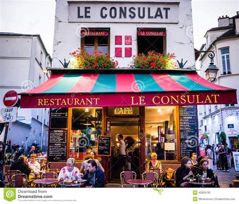 design quarter art shop le consulat restaurant montmartre exterior with diners