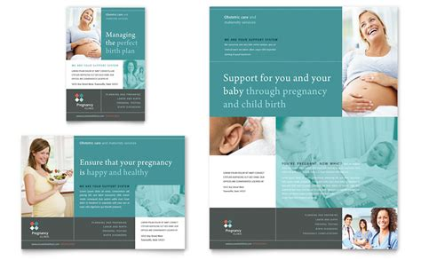 pregnancy clinic flyer ad template word publisher