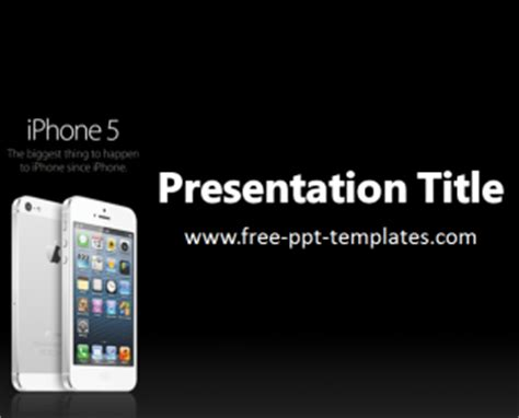 Iphone Ppt Template Iphone Presentation Template