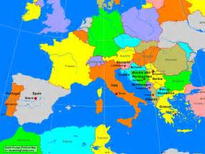 Europe Political Map by South Europe Political Map A Learning Family