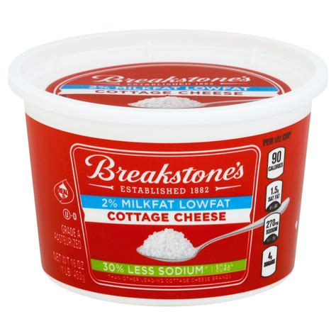 low cottage cheese nutrition breakstone cottage cheese nutrition information