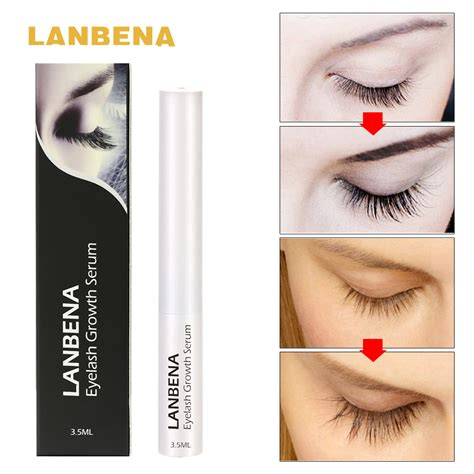 7 Best Products For Longer Lashes by Lanbena Eyelash Growth Serum 7 Day Eyelash Enhancer Longer