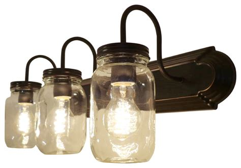 mason jar bathroom light clear quart mason jar vanity farmhouse bathroom vanity