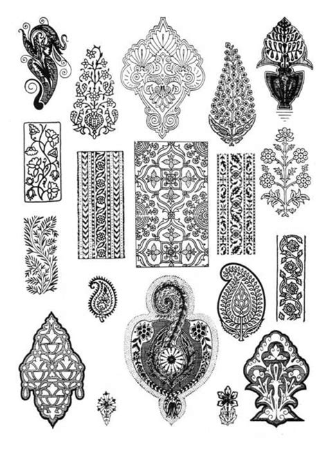 indian pattern motif stencil decor stencil designs pinterest stencil