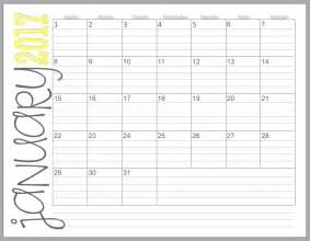 Monthly Calendar 2017 2017 Monthly Calendars Landscape Beautifully Tarnished