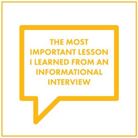 Lessons Learned From Mba Program by The Most Important Lesson I Learned From An Informational