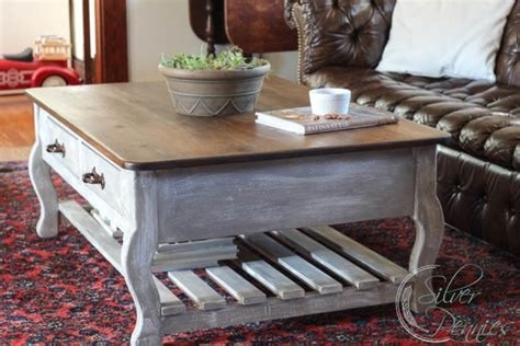 How To Restore A Coffee Table Restoration Hardware Inspired Coffee Table Before After Finding Silver Pennies
