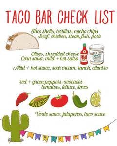taco bar recipe free taco bar checklist tacos