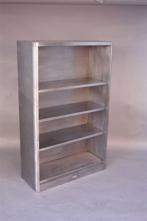 vintage industrial midcentury metal bookcase at 1stdibs