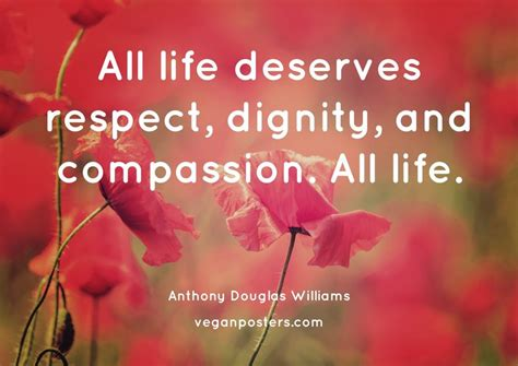 life deserves respect dignity  compassion