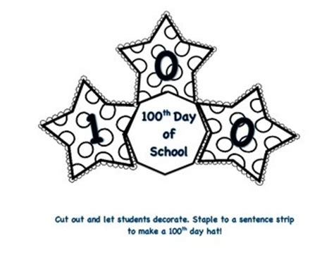 100 days of school hat template technology rocks seriously celebrating the 100th day of
