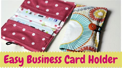 sewing pattern card holder business card holder diy sewing tutorial youtube