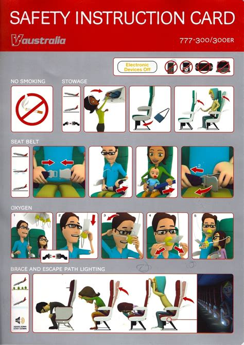 airline safety card template 46 best airline safety cards images on plane