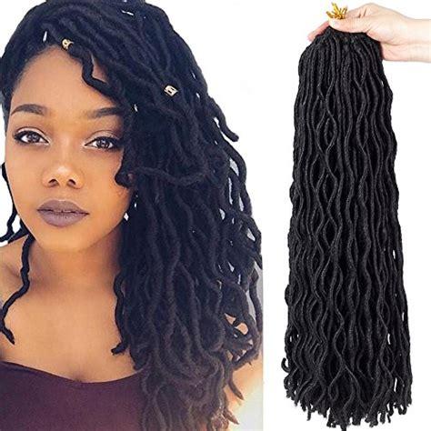 how many packs of hair for kanekalon locs 6packs lot 20 wavy faux locs crochet synthetic braiding