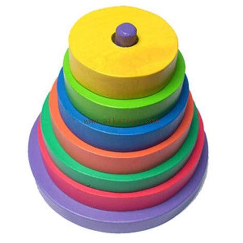 Mainan Edukasi Puzzle Kayu Pin Knob Alat Musik Aika Toys Mainan Edukatif Donat Susun Kayu
