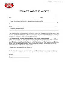 notice to vacate letter to tenant template tenant s notice of intention to vacate hashdoc