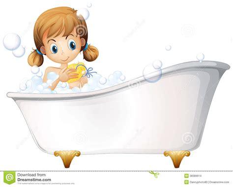 bathtub illustration a girl on the bathtub stock vector illustration of clean