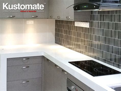 concrete kitchen countertops  melamine cabinets