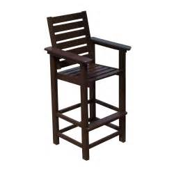 Bar Stools For Outside Polywood 174 Captain Recycled Plastic 29 5 In Bar Stool