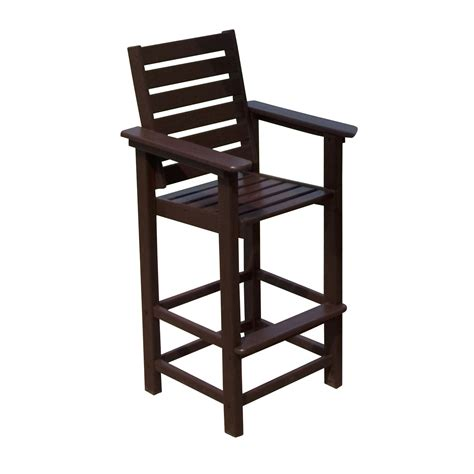 Outside Bar Stools Polywood 174 Captain Recycled Plastic 29 5 In Bar Stool