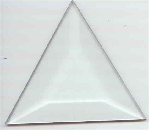 triangle pattern glass beveled glass for stained glass triangle 3 x 3 x 3 2510