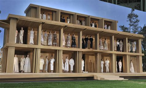 fashion doll house chanel creates eco friendly minimalist life size doll house with a zen garden