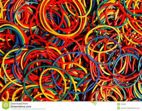 colored rubber bands stock photo image of office color