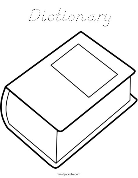 coloring book dictionary dictionary coloring page d nealian twisty noodle