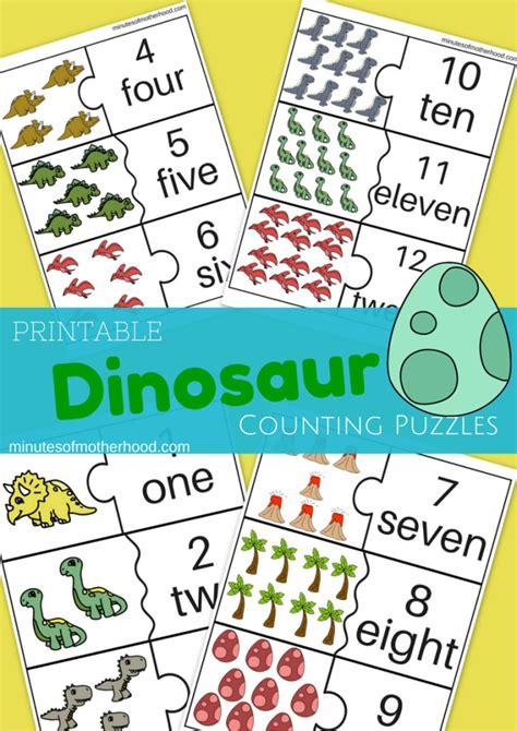 free printable dinosaur number cards miniature masterminds