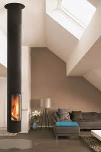 Ideas For Hanging Without A Fireplace by Wood Burning Central Hanging Fireplace Slimfocus By Focus