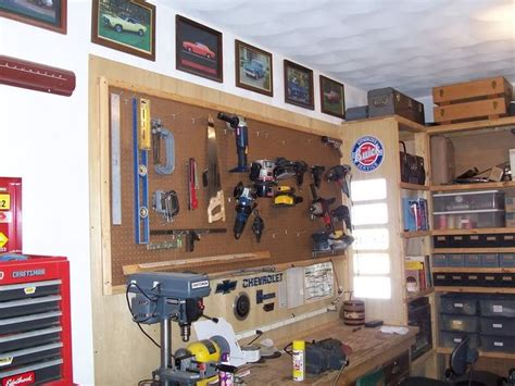 organizing a garage workshop 1000 images about garage organization pegboard ideas on