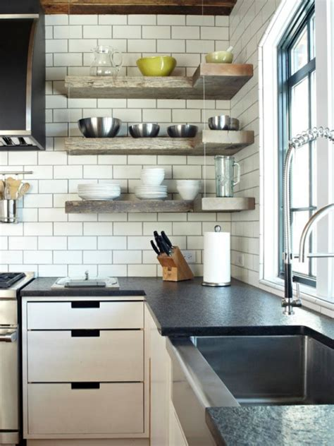 Kitchen Shelf by Space Saving Corner Shelves Design Ideas