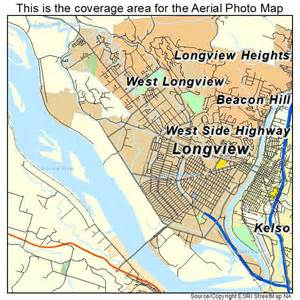 map longview aerial photography map of longview wa washington