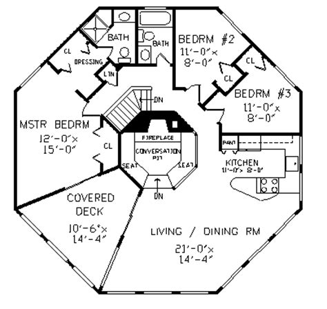 octagon cabin floor plans yosemite 5114 4 bedrooms and 3 5 baths the house designers