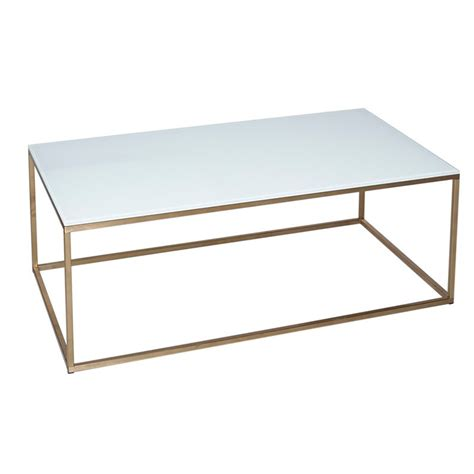 glass coffee table gold frame armano white square gold frame coffee table casa uniqua