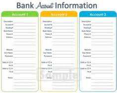 account list template the world s catalog of ideas