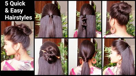 everyday indian hairstyles for medium hair 5 quick easy hairstyles for medium to long hair back to