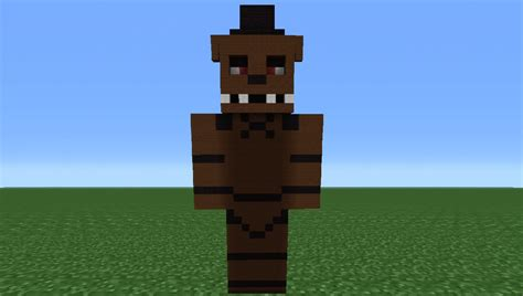 Pdf All Five Nights At Freddys Minecraft Skins by Minecraft Tutorial How To Make A Freddy Statue Five